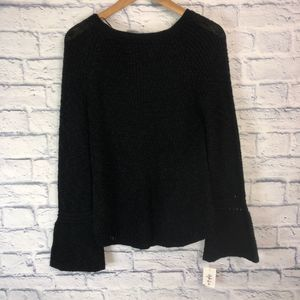 NWT! Black Bell Sleeve Sweater